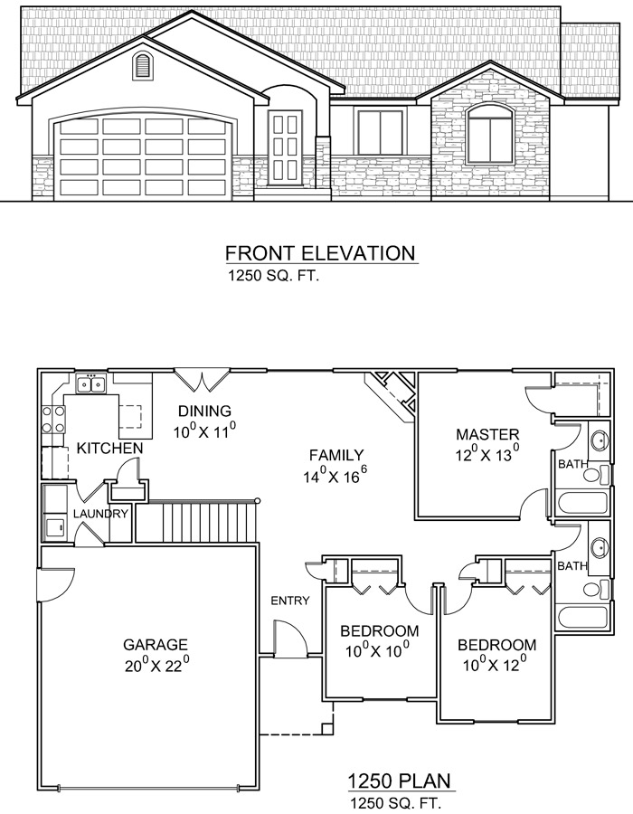 1 utah homes townhome floorplan utah new townhomes for House plans in utah