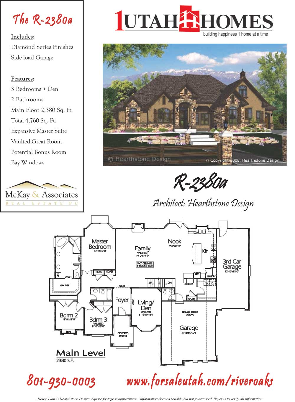 1 utah homes river oaks estate home plans for Utah home design plans